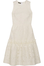 Mother of Pearl Ellie faux pearl-embellished devoré cotton-blend dress