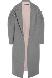 Mother of Pearl Mitchell oversized embellished bonded wool coat