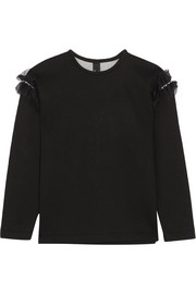 Helma embellished tulle-trimmed cotton and modal-blend neoprene sweatshirt