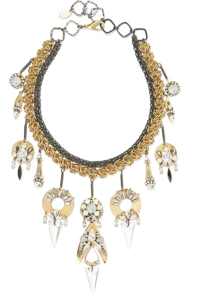 Erickson Beamon - Milky Way Gold-plated, Pewter And Crystal Necklace