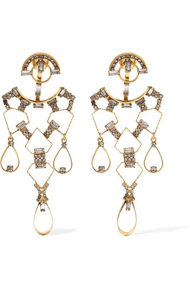Erickson Beamon - Geometry One Gold-plated Swarovski Crystal Earrings