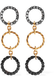 Erickson Beamon Wild Thing gold-plated Swarovski crystal earrings