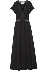 Paul & Joe Lace-trimmed silk crepe de chine maxi dress