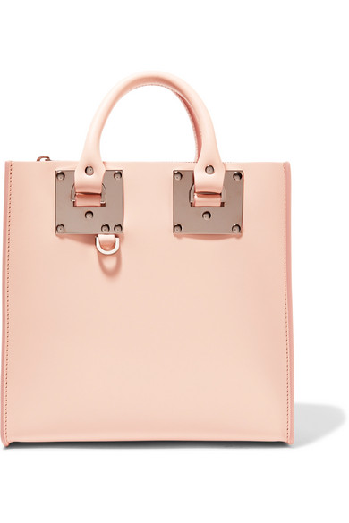 sophie hulme female sophie hulme albion square leather tote baby pink