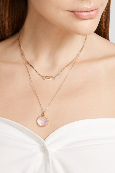 Baby Chivor 18-karat Gold Sapphire Necklace - one size Aur 7TKSCNBKk4