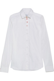 Embellished cotton-twill shirt