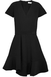Carven Grosgrain-trimmed crepe mini dress