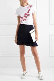 Carven Embroidered cotton-jersey T-shirt