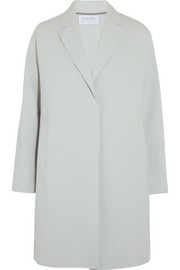 Oversized stretch cotton-blend coat