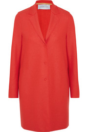 Cocoon wool-felt coat