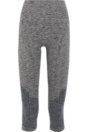 Stride cropped stretch-knit leggings