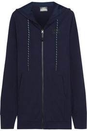 LNDR Coach stretch-jersey hooded top
