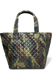 Metro camouflage-print quilted shell tote
