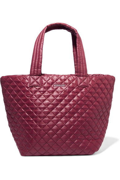 MZ Wallace - Metro Quilted Shell Tote - Burgundy