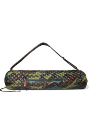 Metro camouflage-print quilted shell yoga bag