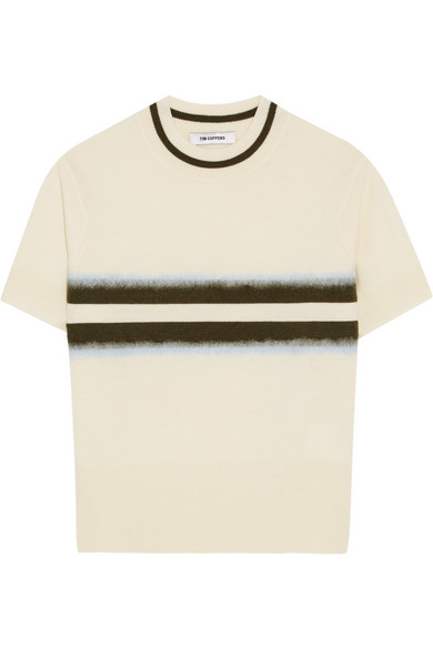 Tim Coppens - Striped Wool Sweater - Cream