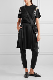 Tim Coppens Pleated stretch-wool wrap skirt