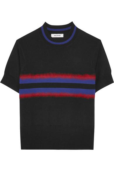 Tim Coppens - Signal Striped Merino Wool Sweater - Black