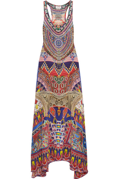 camilla female camilla embellished printed silk crepe de chine maxi dress purple