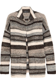 James Perse Striped stretch-knit cardigan