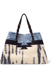 Jérôme Dreyfuss Maurice tie-dye leather and printed suede tote