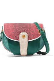 Momo mini snake and textured-leather shoulder bag