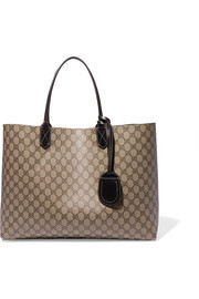 Gucci Turnaround reversible leather-trimmed coated-canvas tote