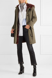 Shearling-lined cotton-twill parka