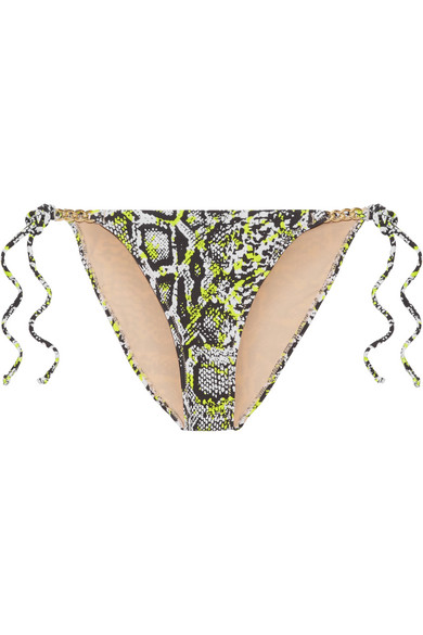 L Agent by Agent Provocateur. Mercades embellished printed bikini briefs 247083ea4