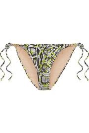 Mercades embellished printed bikini briefs