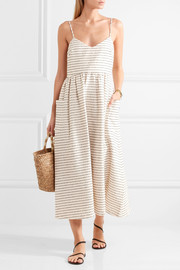 Mara Hoffman Striped cotton-blend midi dress