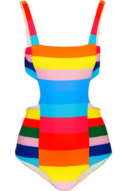 Vela striped cutout swimsuit