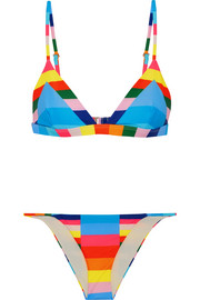 Vela striped triangle bikini