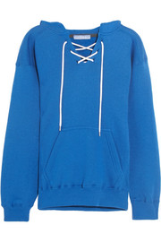 Surfy Surfy appliquéd cotton-blend jersey hooded sweatshirt