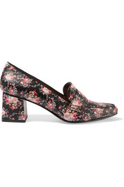 Margot floral-print leather pumps