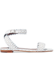 Judy perforated leather sandals