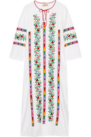 Jasmine embroidered cotton kaftan
