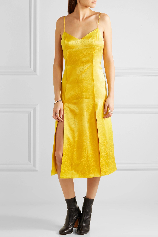 Topshop Unique Floral Fatale silk-jacquard dress