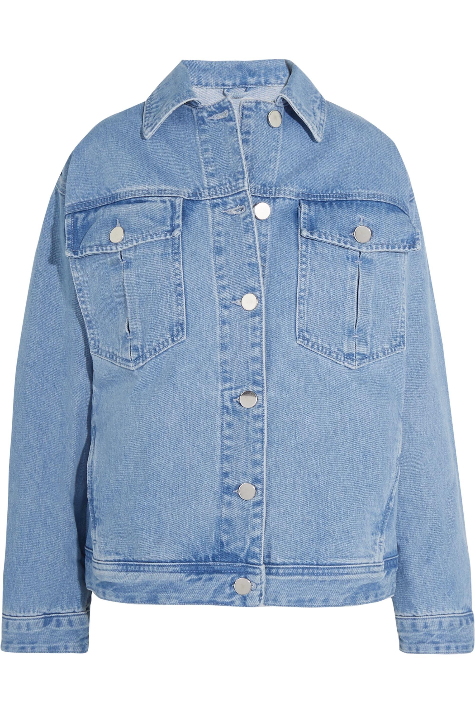 Topshop Unique Rushmore oversized beaded denim jacket