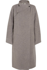 Brushed-wool coat
