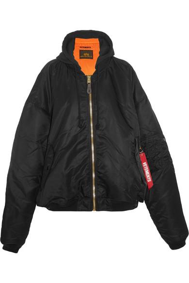 e30bae1ce + Alpha Industries oversized hooded reversible shell bomber jacket