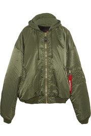 + Alpha Industries oversized hooded reversible shell  bomber jacket