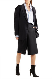 + Brioni split-back wool shorts