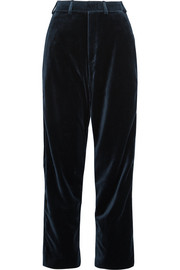 + Brioni cotton and silk-blend velvet straight-leg pants