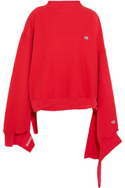 + Champion In Progress oversized cotton-blend top