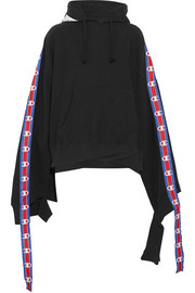 + Champion cotton-blend jersey hooded sweatshirt
