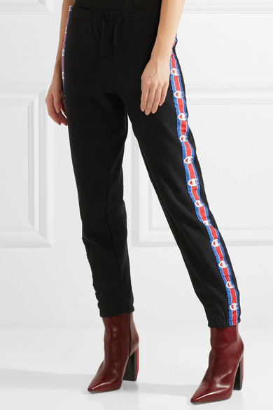 94b500930a44d9 Vetements | + Champion cotton-blend jersey track pants | NET-A ...