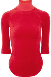 + Juicy Couture cotton-blend velour top