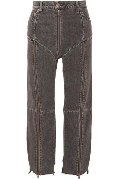 06ba579ede63 Vetements. + Levi s distressed zip-detailed high-rise straight-leg jeans