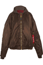 + Alpha Industries oversized reversible shell bomber jacket